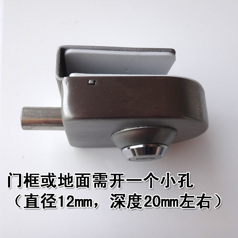 New frameless glass door, ground lock glass door lock, single door lock, glass door latch, latch key latch