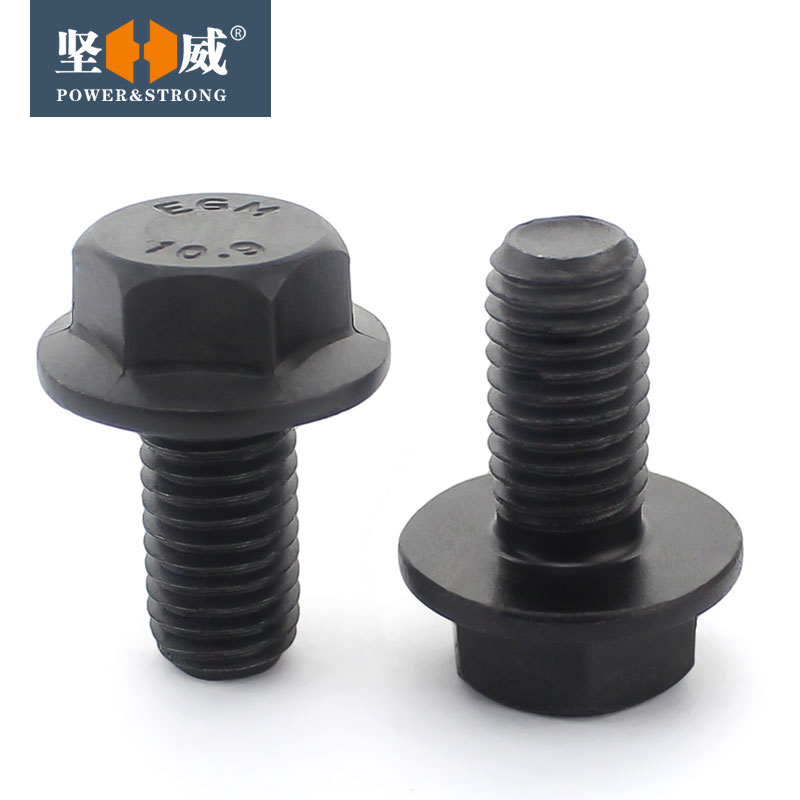 10.9 grade outer six corners flange face screw bolt, automobile screw (GB5789) M10M12M14M16
