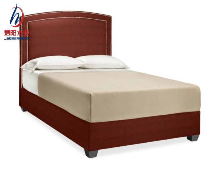 Shanghai Jun Yang modern furniture backrest soft fabric bed 1.5 meters 1.8 double bedroom soft by simple marriage bed