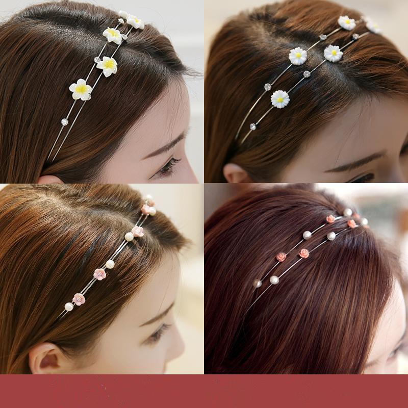 [new] Korean double hoop Liu Haifa before issuing fine hair clip top clip headband tooth head hoop pressure
