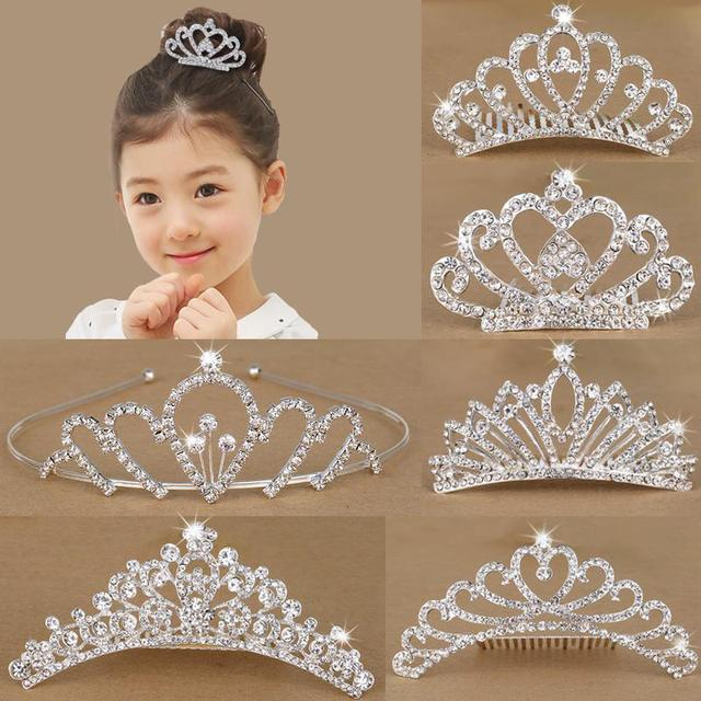 Girls hair with teeth children headdress cute rabbit ears Crown Princess student child headband Korean slip
