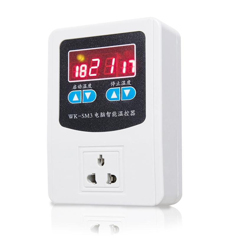 Interruptor de temperatura controlador de temperatura inteligente de controle de temperatura ajustável para aquecer com um soquete de 220V termóstato Da Caldeira
