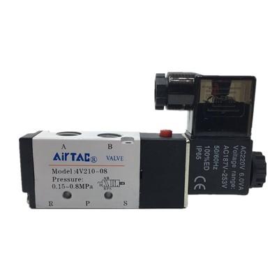 4V210-08亚德客型電磁弁二位5通AC220V切換弁空気圧弁DC24V継手