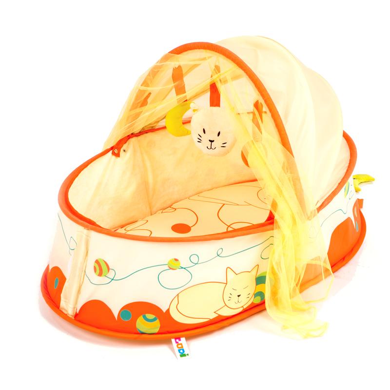 Τα νεογέννητα κρεβάτι CMT κινητή ονάδα μωρό με κουνουπιέρα πτυσσόμενο κρεβάτι μωρό μου μενταγιόν με τα παιχνίδια μπορεί να
