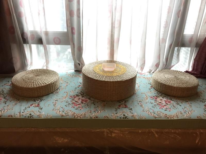japonski slame, okna in 炕几 masivnega lesa iz ratana mizo kang tabela polico postelje square vzmetnice mizo majhno mizico čaj mizo