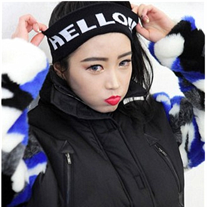 欧米の男性力広い美男フィットネス運動韓国秋冬個性カチューシャフィットネス運動リボン男女バンダナ