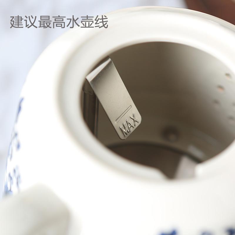 El hervidor de agua de acero inoxidable 304 de cerámica de uso doméstico de desconexión automática de aislamiento térmico de baja potencia de agua de la tetera