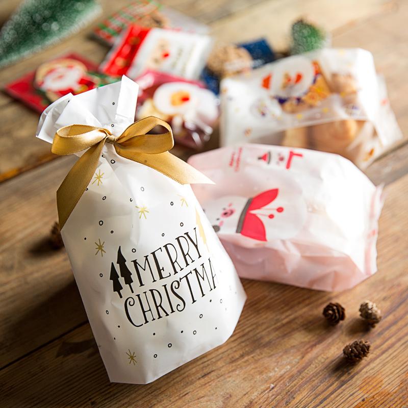 jul kager emballage taske taske gennemsigtige gaveæske bagning kasse taske æske