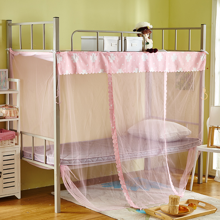 Student mosquito net telescopic bedstead, stainless steel bedroom shelf, single stand, single bed pole