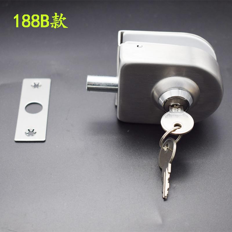 o uşă de sticlă de încuietoare la uşa de sticlă de la magazine de baie cu o încuietoare de blocare