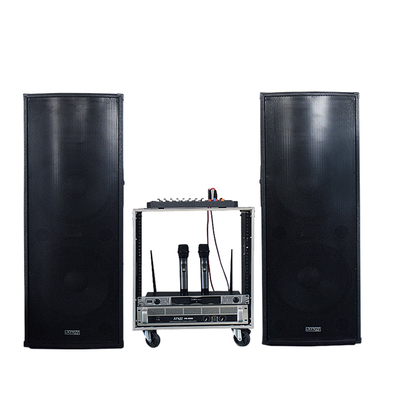 Double 15 inch stage outdoor square sound box suit double 12 inch passive large power wedding ceremony performance sound