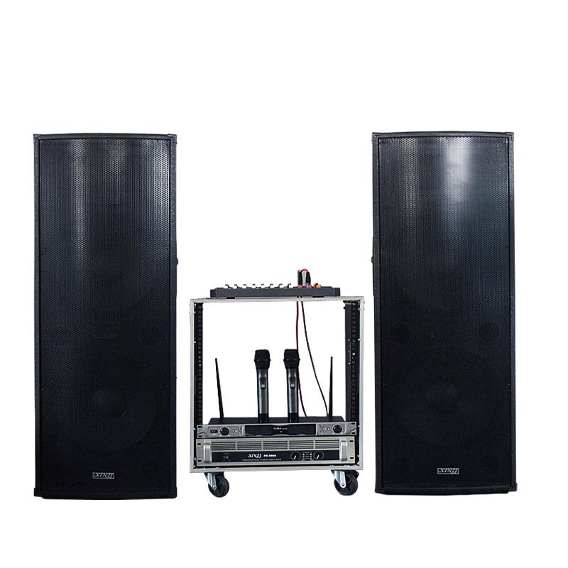Dual 15 polegadas com caixa de SOM Palco praça Ao ar Livre é de 12 polegadas de Alta potência de áudio) conferência de Casamento