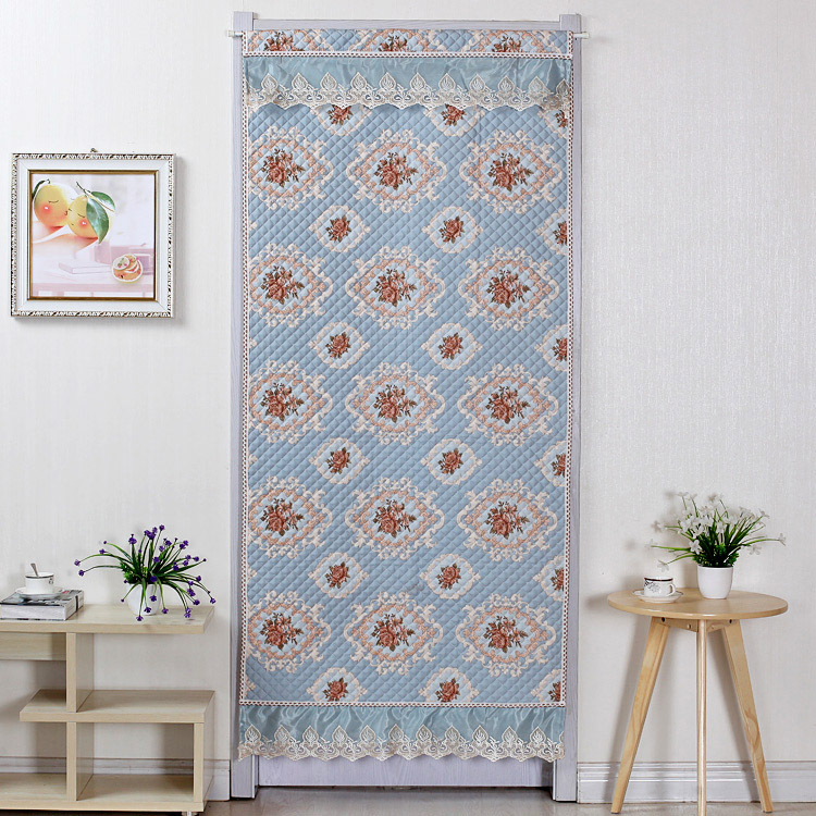 The bedroom living room curtain cloth insulation insulation cold winter changmen household thick cotton curtain shipping