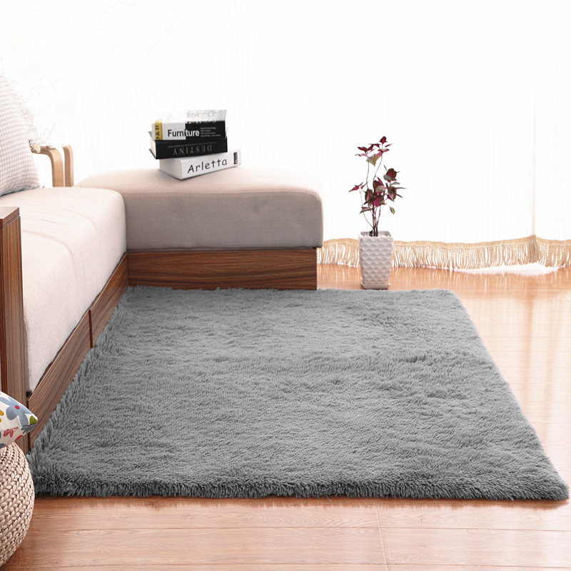 Indoor plush coral fleece stitching mainland bedroom bedside mats coral fluff household carpet mat