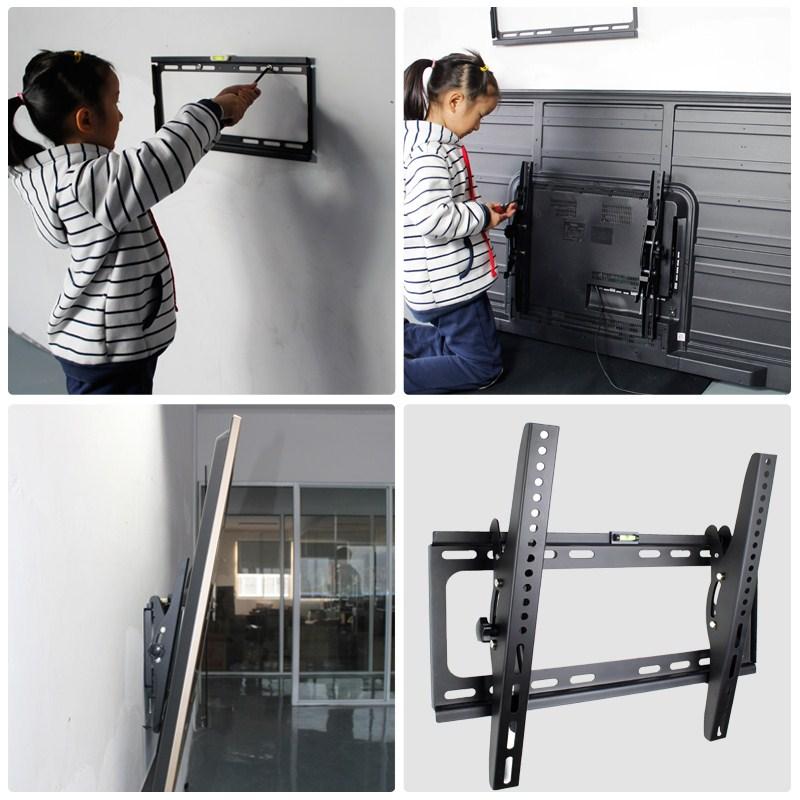 شاشات الكريستال السائل شاشة مسطحة الجدار العام جدار التلفزيون قوس معلق 14-65 بوصة