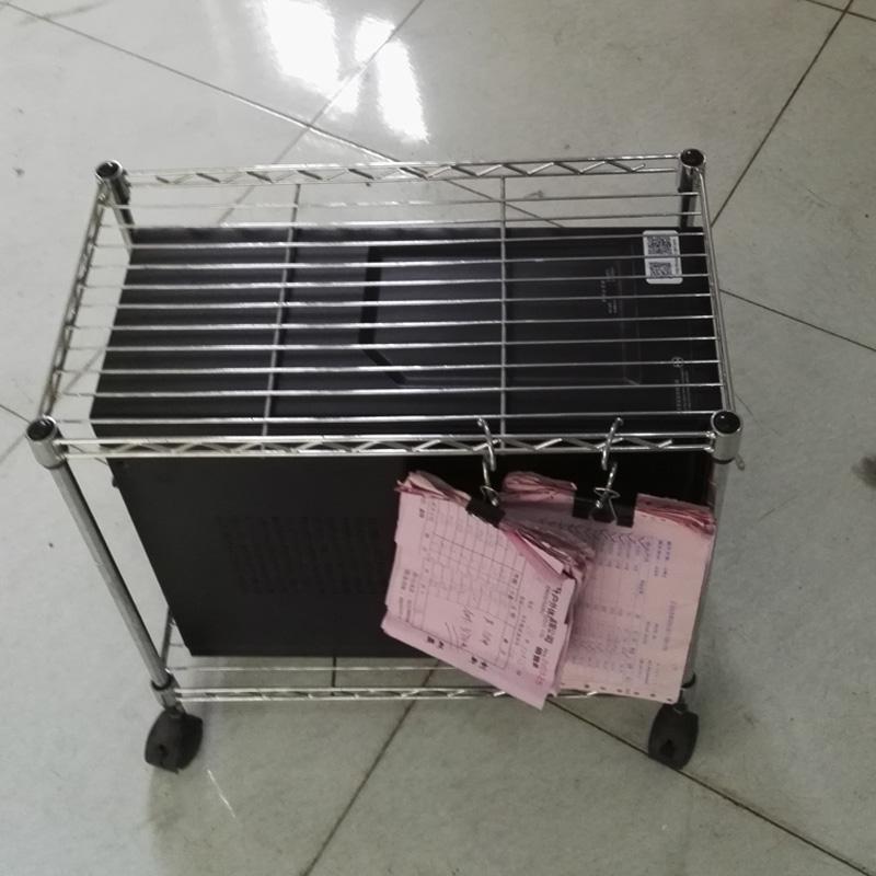 ラック二重金属着地ブラケット放熱ホスト台地メインフレームのケースの移動メサ移動機
