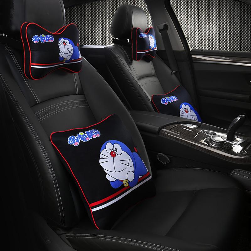 自動車のヘッドレスト可愛い護頚枕腰枕で漫画のクッションは車で抱き枕自動車用品に詰めて