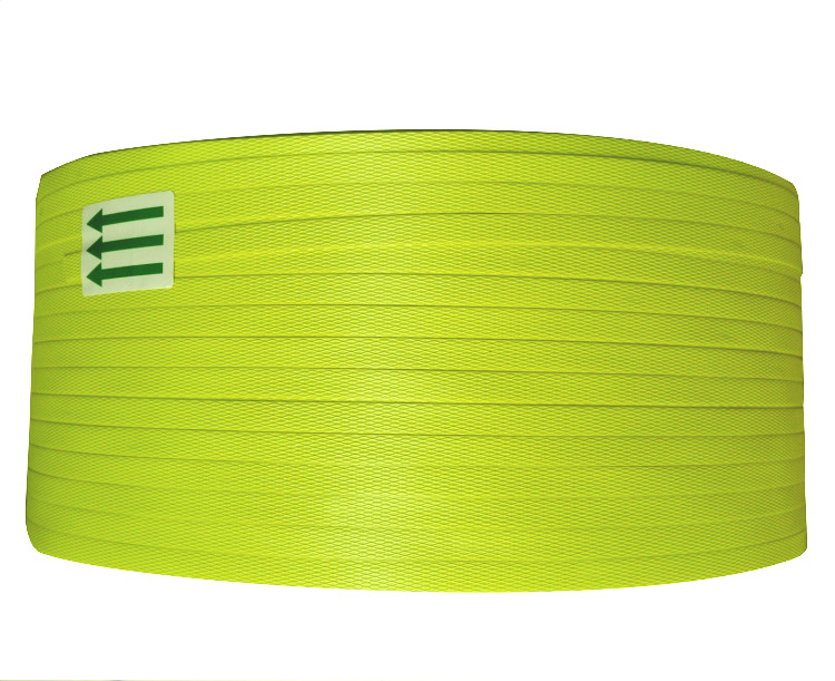 New material white PP hot melt plastic strapping belt, automatic semi automatic packing belt 8mm