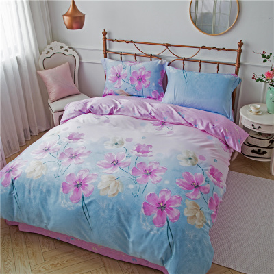 Autumn and winter winter bedding Tencel four piece sanding thickened super soft warm cotton naked 1.8 bed