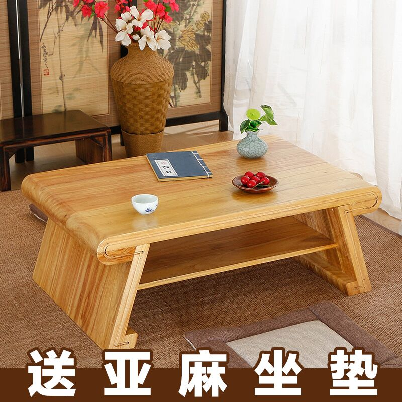 The table platform bed wood Kang windows small tea table tatami Paulownia Ancient Chinese Literature Search mini table