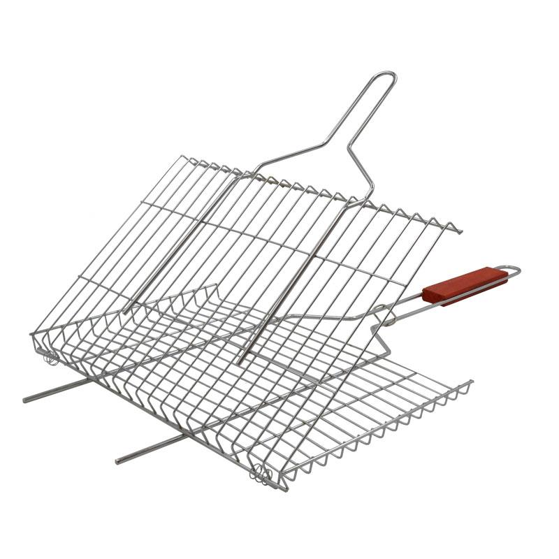 новые инструменты из нержавеющей стали на барбекю на гриле рыбу на гриле туба клип ракетку сети клип сети полужирный сжечь жареной рыбы