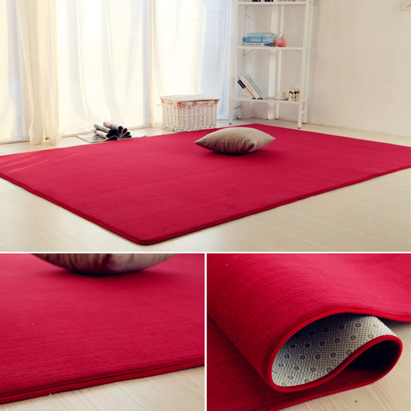 With the living room bedroom bedside table mats blanket rectangular tatami carpet cushions child windows.