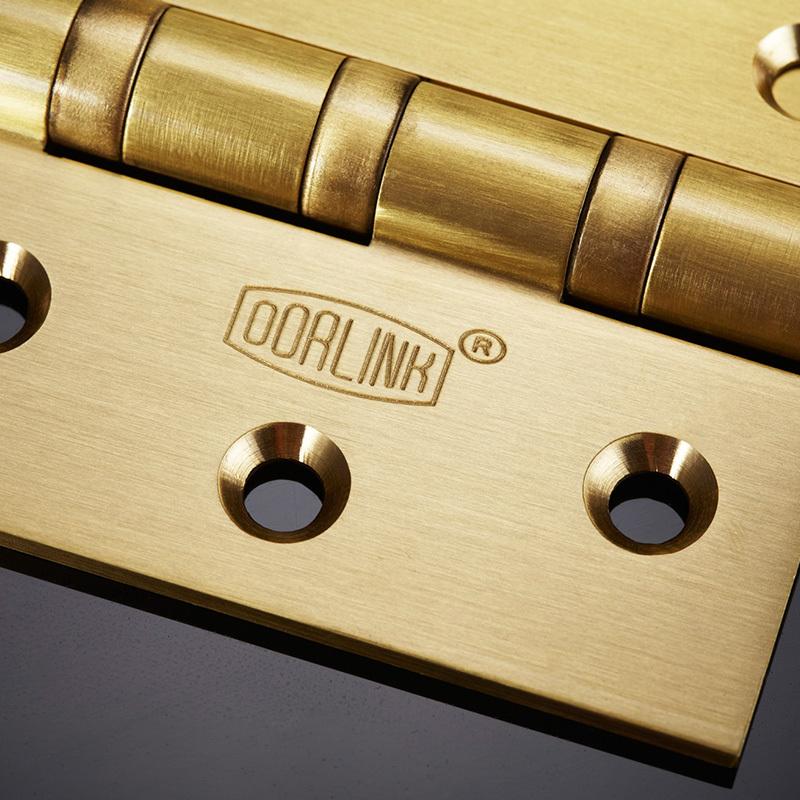 El espíritu de la bisagra de 4 pulgadas más hardware de cobre plano abierto gabinetes de madera con bisagras bisagras accesorios de hardware mudo