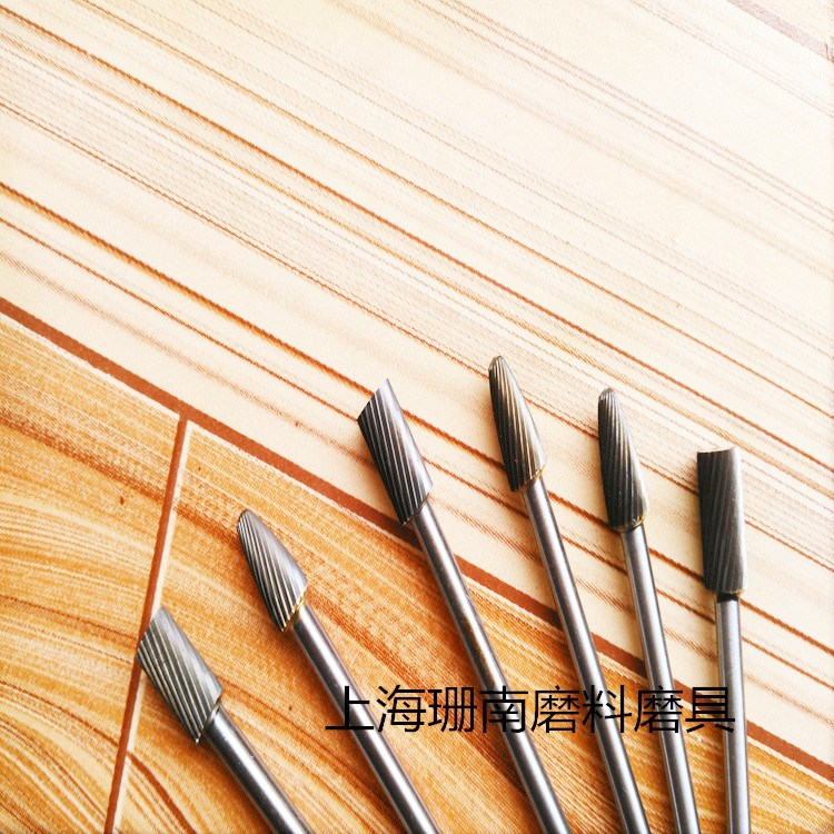 Electric grinding head, coarse tooth tungsten carbide hardwood rotary file carving woodworking tools longer handle tungsten steel grinding head
