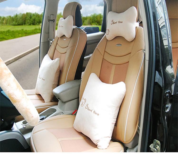 用品四季自動車用ヘッドレスト車車首首クッション漫画の可愛い車載護枕枕に