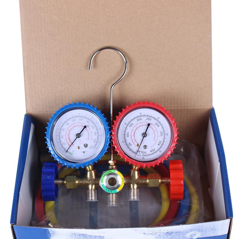 Carro com ar condicionado e mesa de neve de medidor de pressão Da válvula válvula de Dupla r1222r134ar410 refrigerante