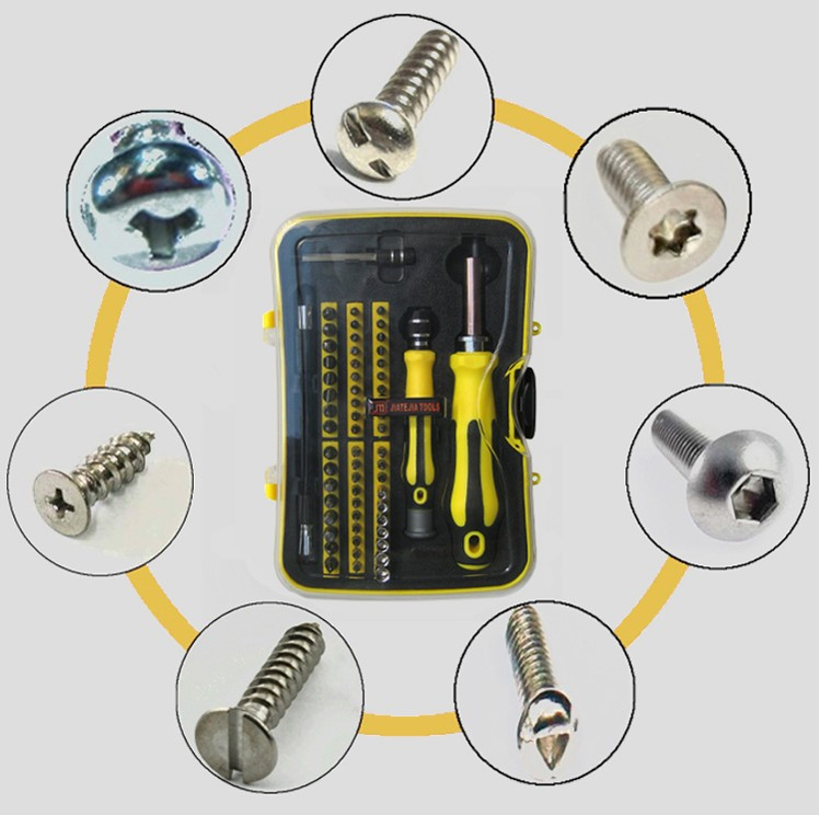 The machine screws shipping more power installed knife cap screw shaped electric screwdriver can repair different dimensional combination tool group