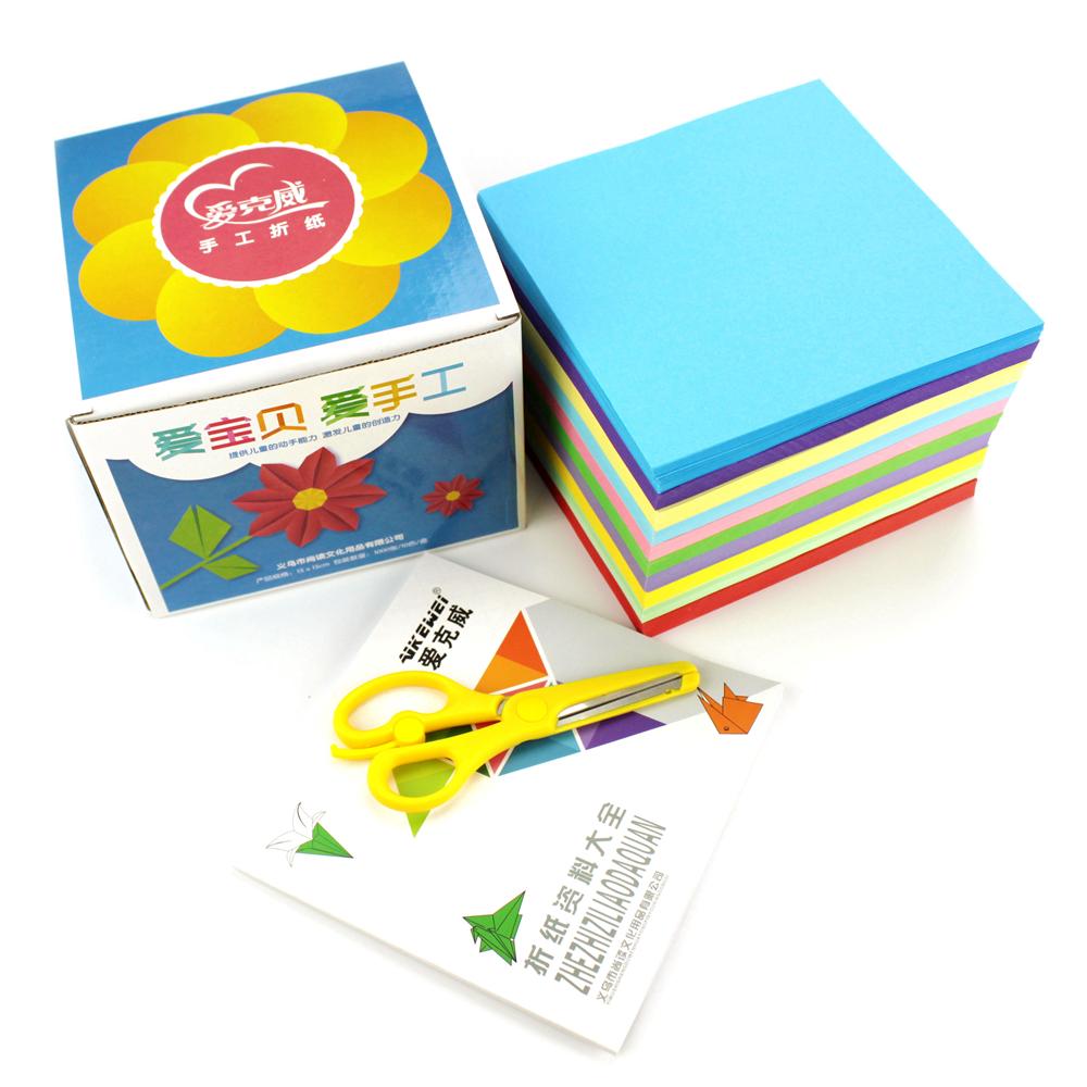 Origami paper making paper-cut materials square color origami origami paper manual kindergarten children