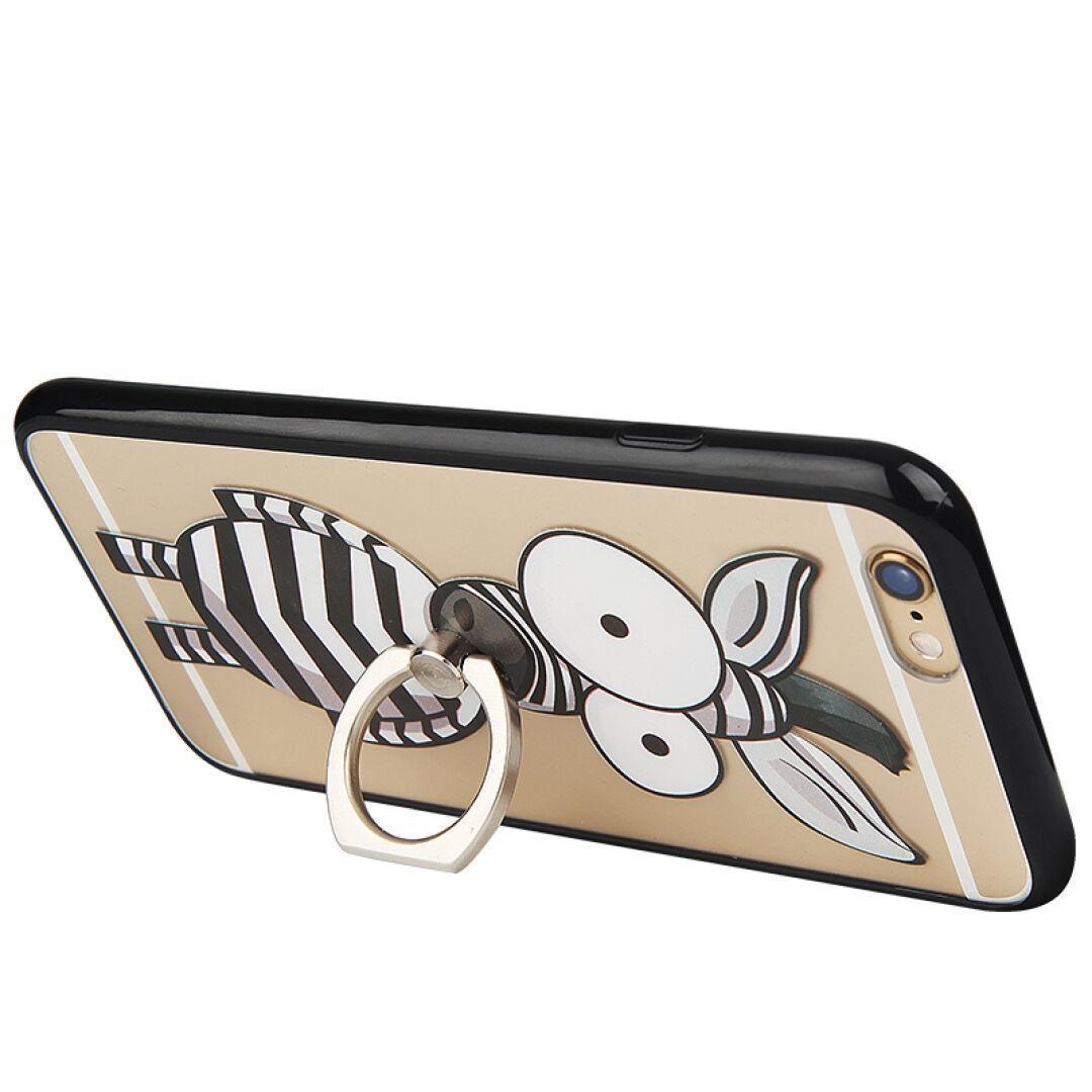Capa protetora iPhone 6 s Tipo fivela anel suporte cartão de telefone celular de protecção CaSO caixa DOS desenhos animados