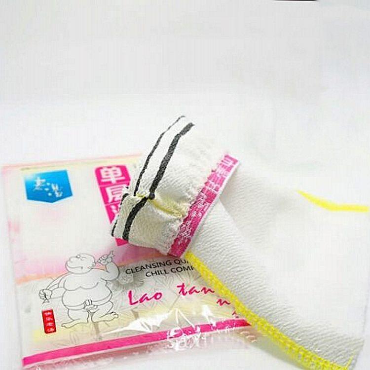 5 опаковка оригинален Лао Танг тъмна баня кърпа самостоятелна опаковка един тънък участък общи груб пясък на силна пепел