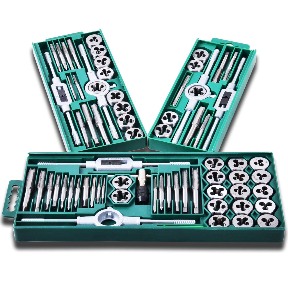 12 20 40 sets of tap and die set tool hand screw spanner tooth holder metric