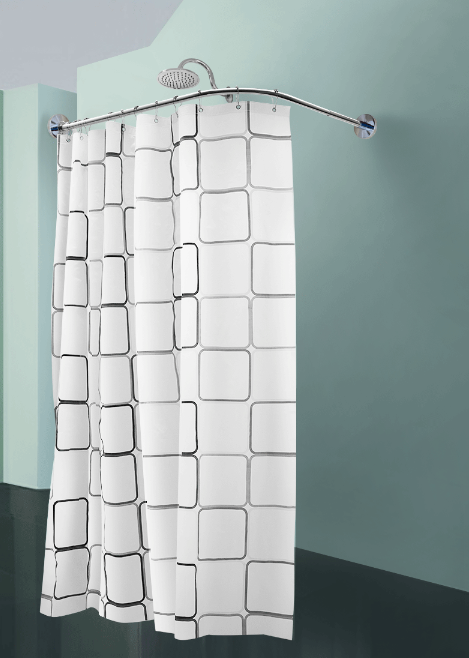 Trong nhà tắm, phòng tắm trong phòng tắm phòng trang điểm thanh thép không gỉ tắm l hình que chiếc miễn thanh rèm tắm dài cong lỗ