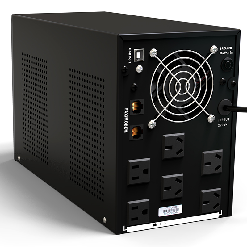 Rady División D3000 ininterrumpida UPS solo 2 horas y 12 3KVA1800W computadora computadora disponible
