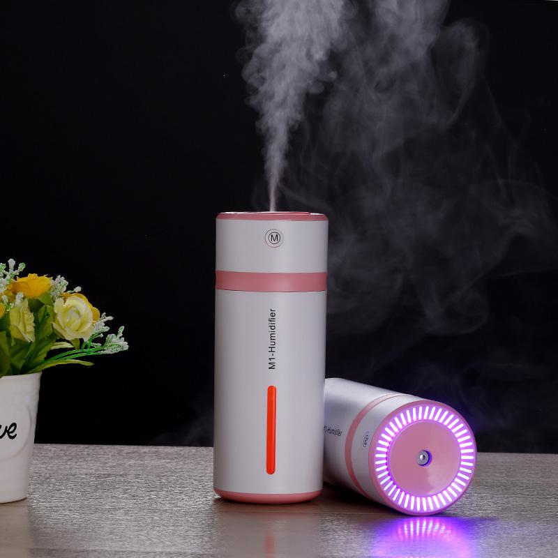 ミニ加湿器オフィスデスクトップの家庭用寝室シズネ車載スプレー車用の常夜燈空気浄化