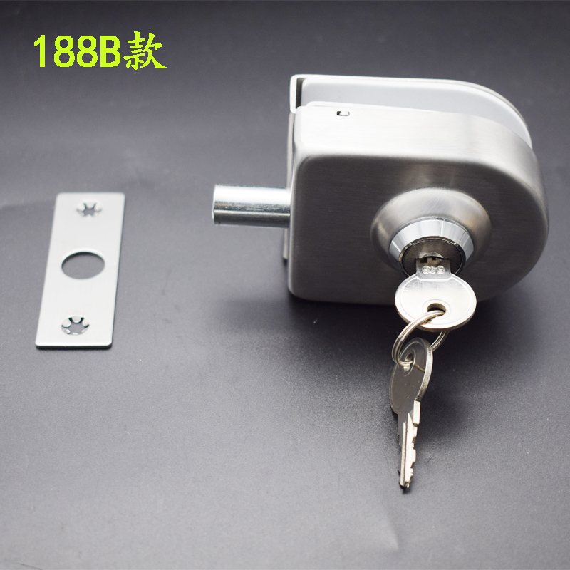 Glass door lock, glass door, bolt lock, shop, bathroom, bathroom, office single door lock, single earth lock