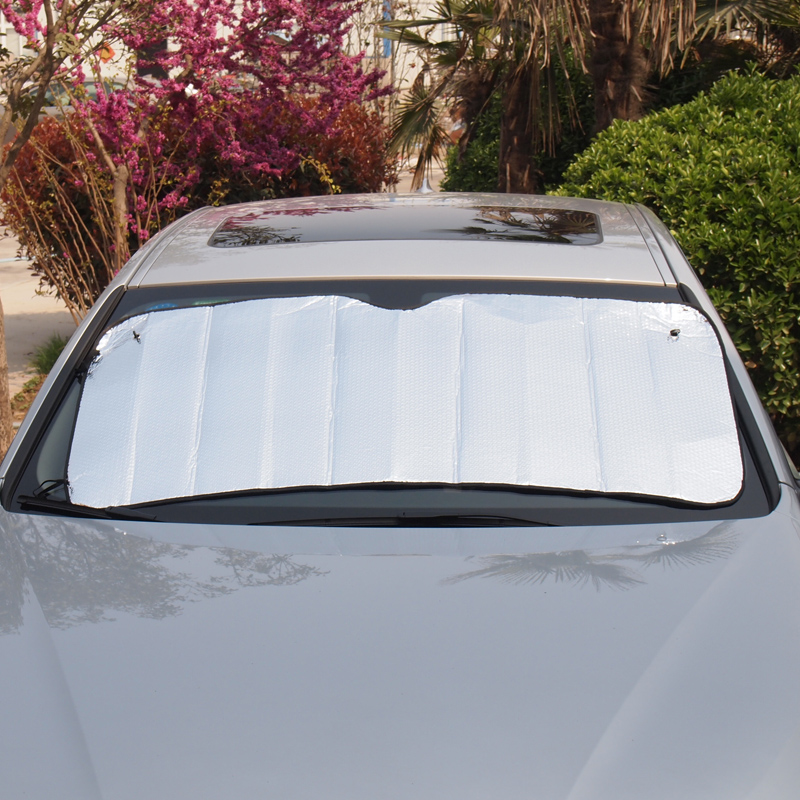 Car sun shield, sun visor, front guard, sun shading, heat insulation film, aluminum foil, sun shield, double silver gas