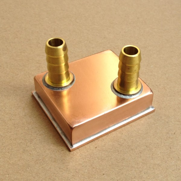 CPU water head card north and South Bridge cold head LED refrigeration radiator welded copper micro channel column base