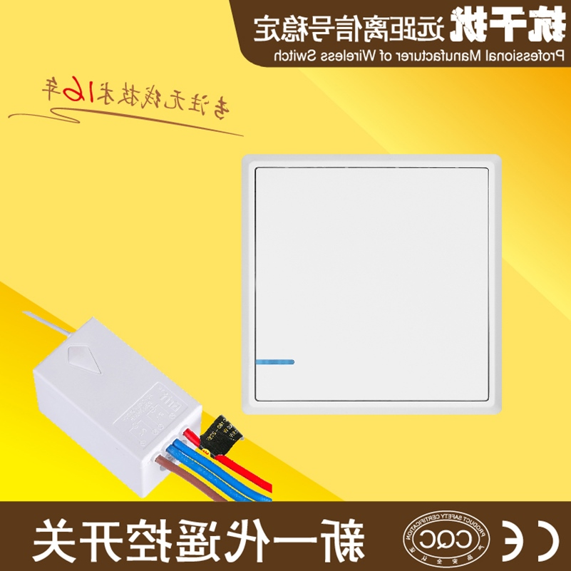 Remote distance free routing intelligent remote control switch 220V double controlled wireless home ceiling lamp switch