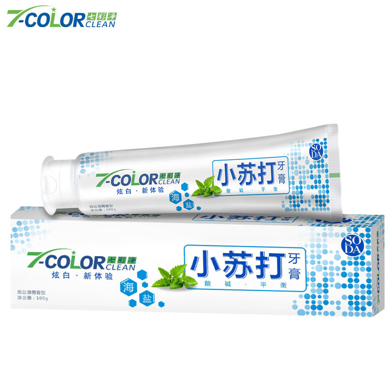Salt soda mint toothpaste 100g*4 dazzle white to yellow teeth clean stains have gum moth