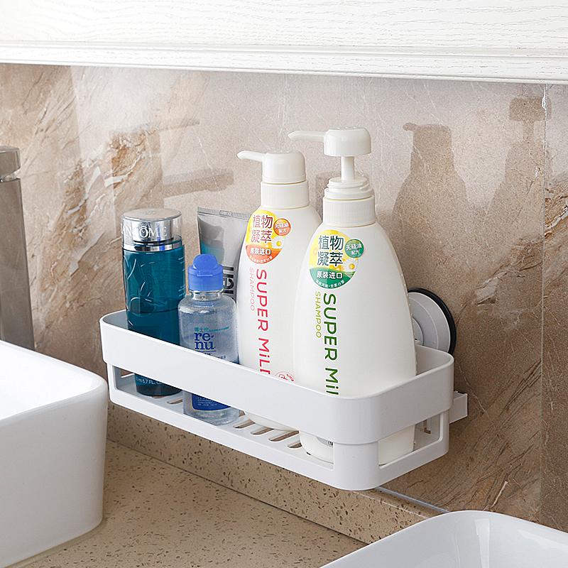 免パンチング浴室トイレ洗面器ラックキッチン強力吸盤を置く棚収納ラック