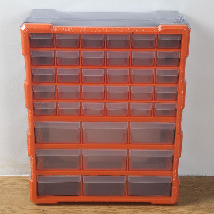 掛壁式引き出し式は全透明部品収納棚アクセサリー箱箱デスクトップ分類試料容器39格収納ボックス
