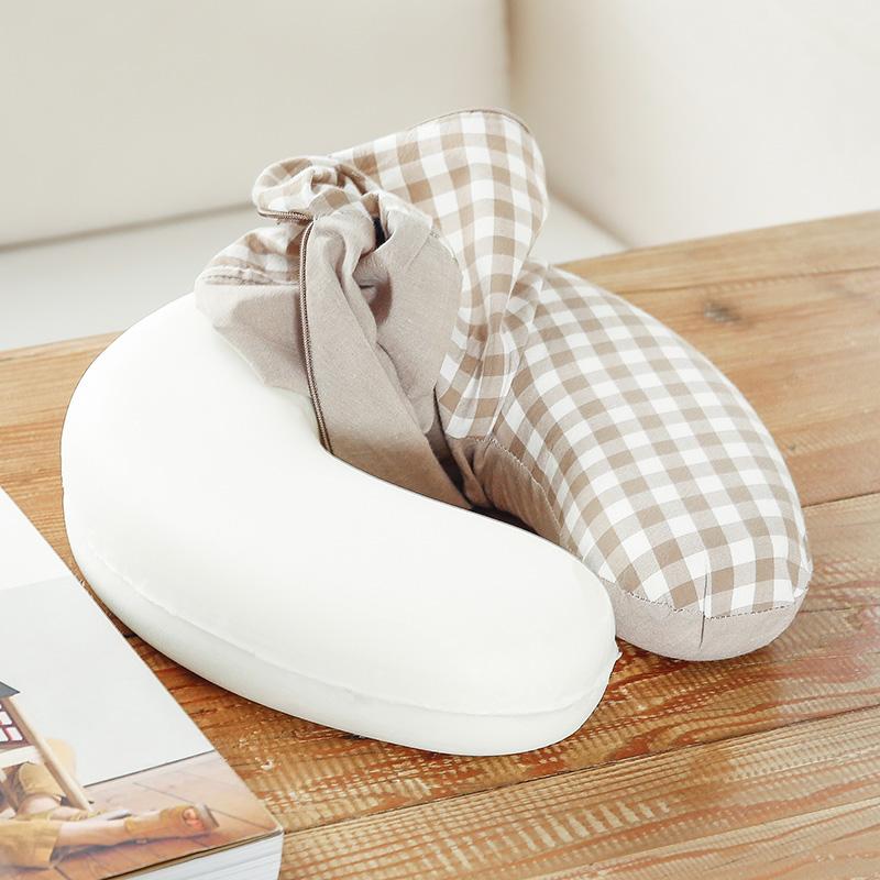 優品質枕昼休み護首u型護頚枕枕u型記憶綿旅行枕枕成人u形