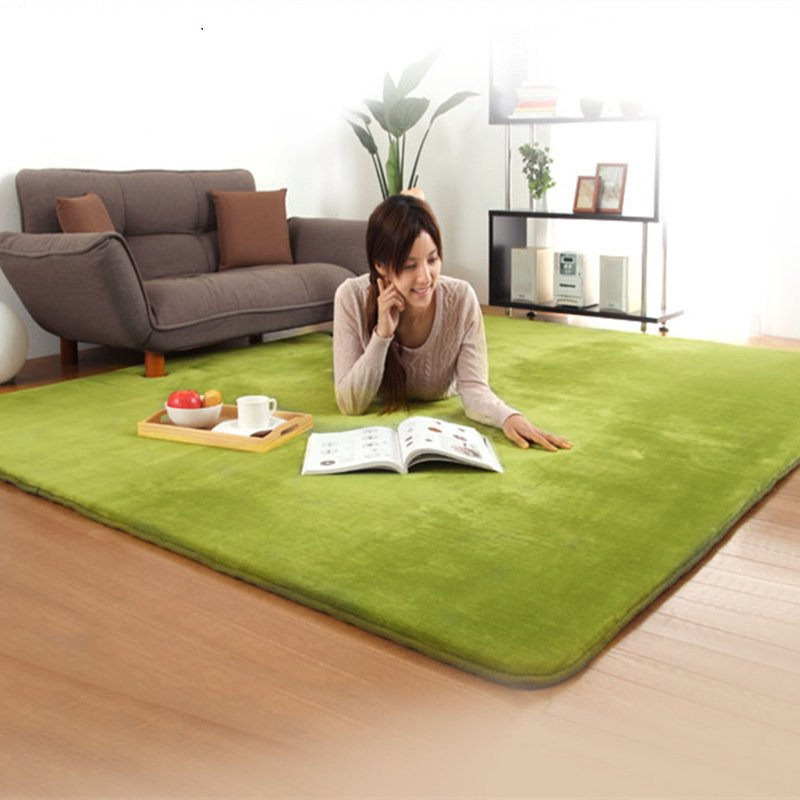 Cotton thickened coral velvet carpet in the living room bedroom table baby crawling tatami full floor mat