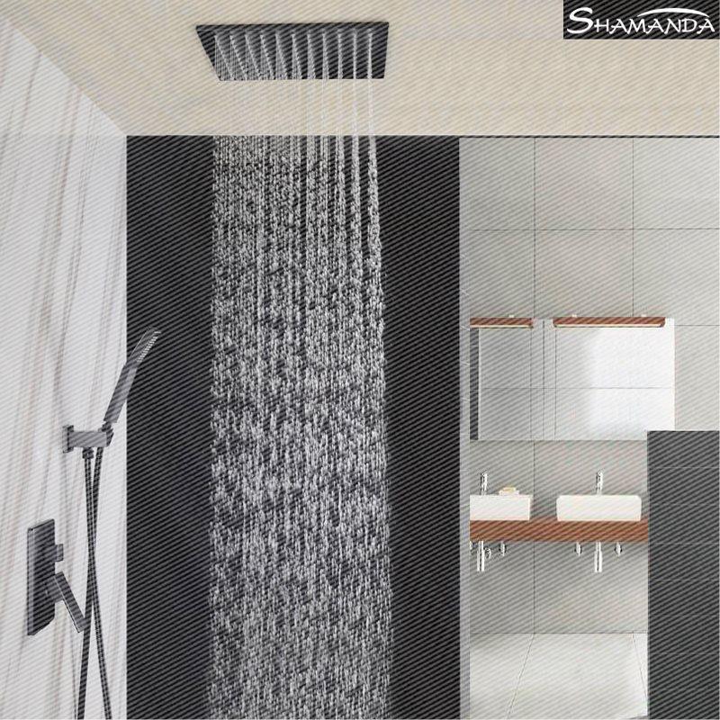 все медные холодной и горячей потолок встроенные черный ящик отель скрытой установки пожаротушения, встроенные в стены, потолок душ клапан смеситель типа костюм