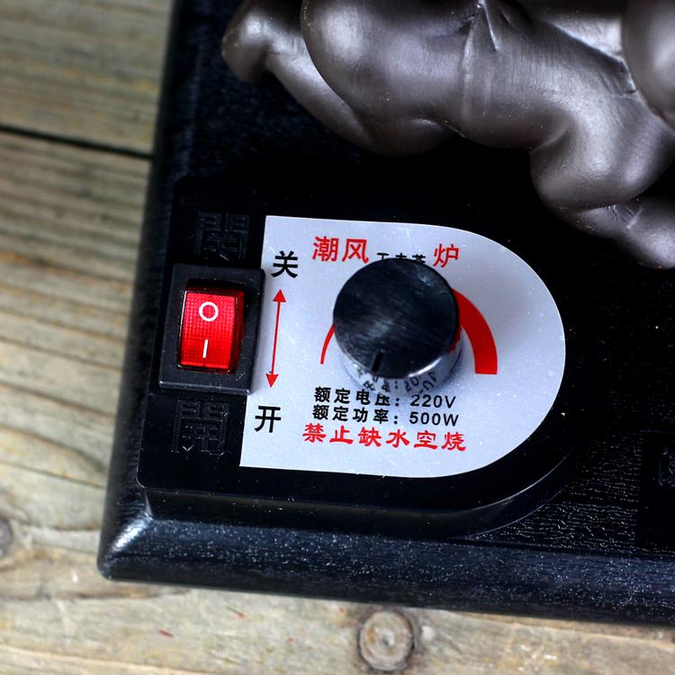 Se hierve un horno de vidrio la tetera de té de la electrónica Purple kung fu