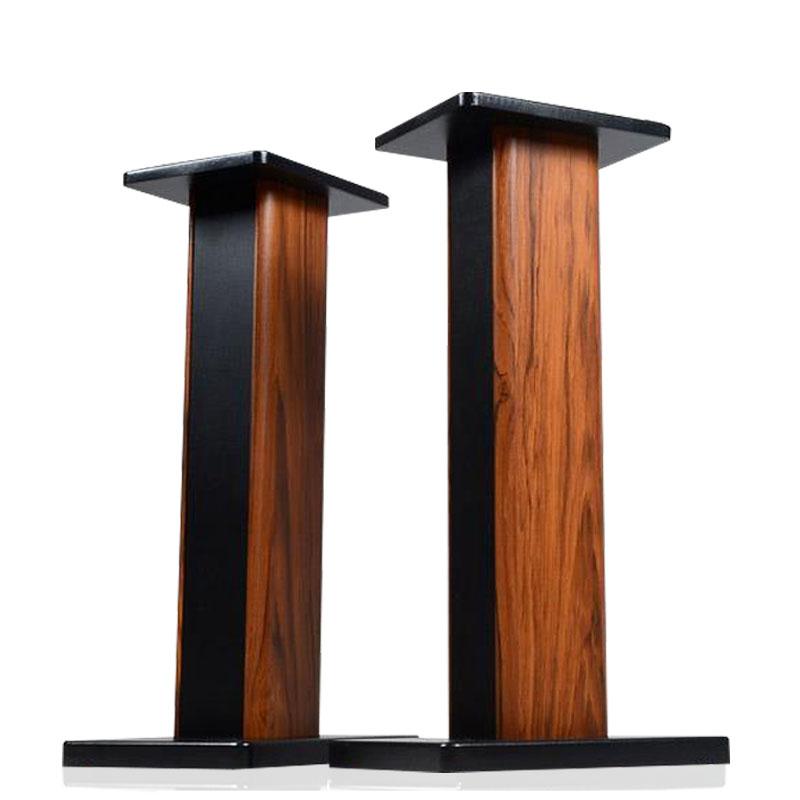 Soporte de audio altavoces de sonido envolvente consola de pie de madera maciza.
